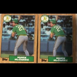 Topps Baseball ⚾️ 86 Mark McGwire Rookie cards